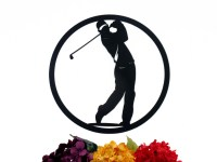 Golfer Metal Wall Art Golfer Gift Golf Gift Metal Wall