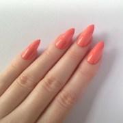 peach stiletto nails 20