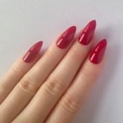red stiletto nails nail design