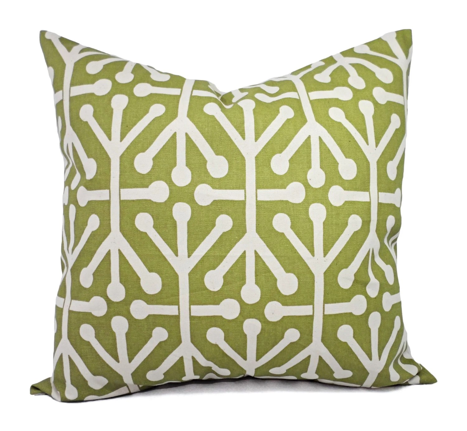 Green Decorative Pillow Covers Two Green by CastawayCoveDecor