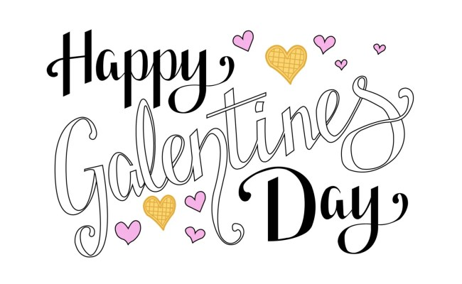 Items Similar To Happy Galentines Day Postcard Leslie