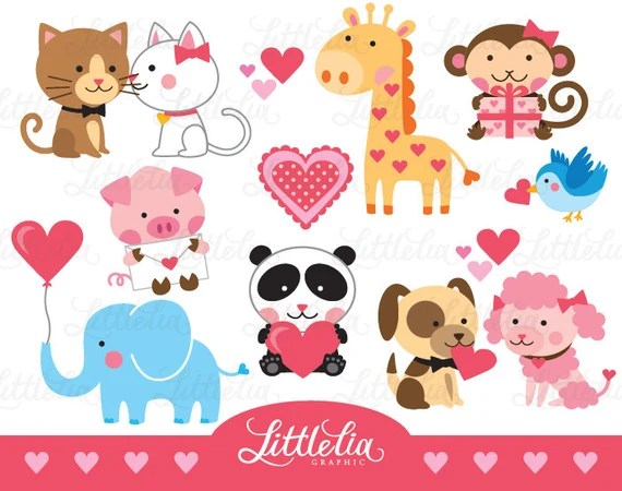 Download Animal love clipart valentine clipart love clipart 15002