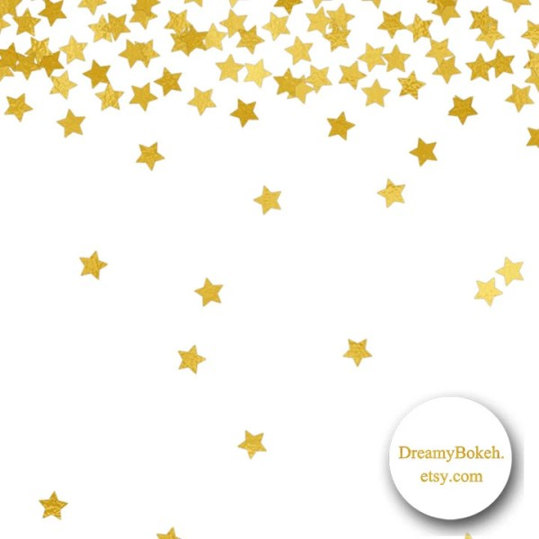 gold foil stars confetti digital