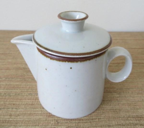 Dansk Brown Mist Creamer With Lid Stoneware Niels