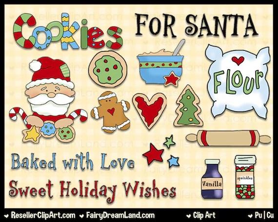 cookies santa clip art commercial