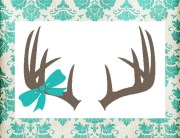 antlers with bow decal hunting