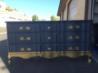 Blue and Gold French Provincial Bedroom Set by ...