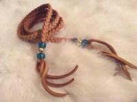 Deer Hide Braid Hair Wrap Leather Hair Tie by LeatherByLisa
