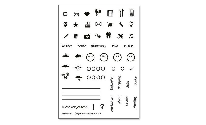 Planner stamps for your appointment calendar