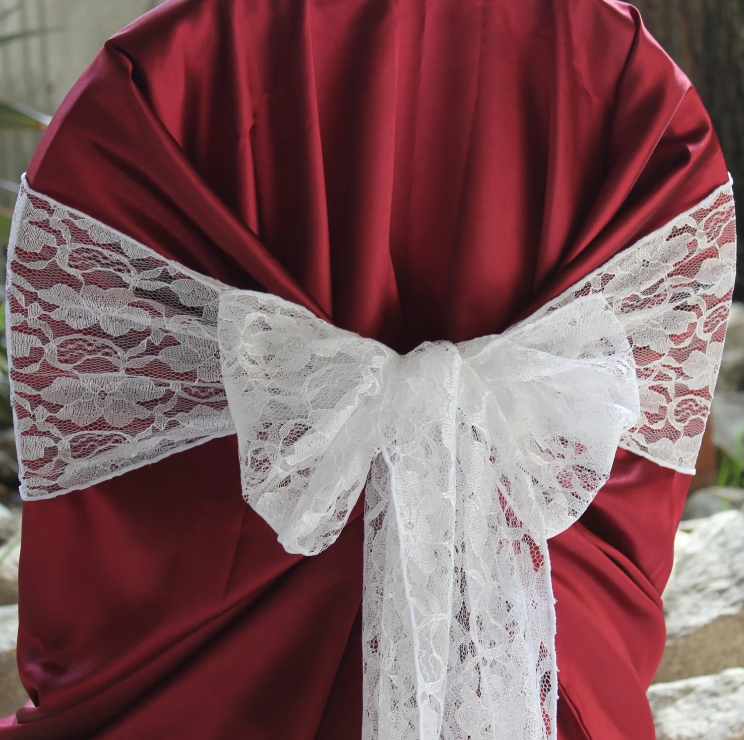 flower chair sashes for wedding wheelchair model lace sash floral by