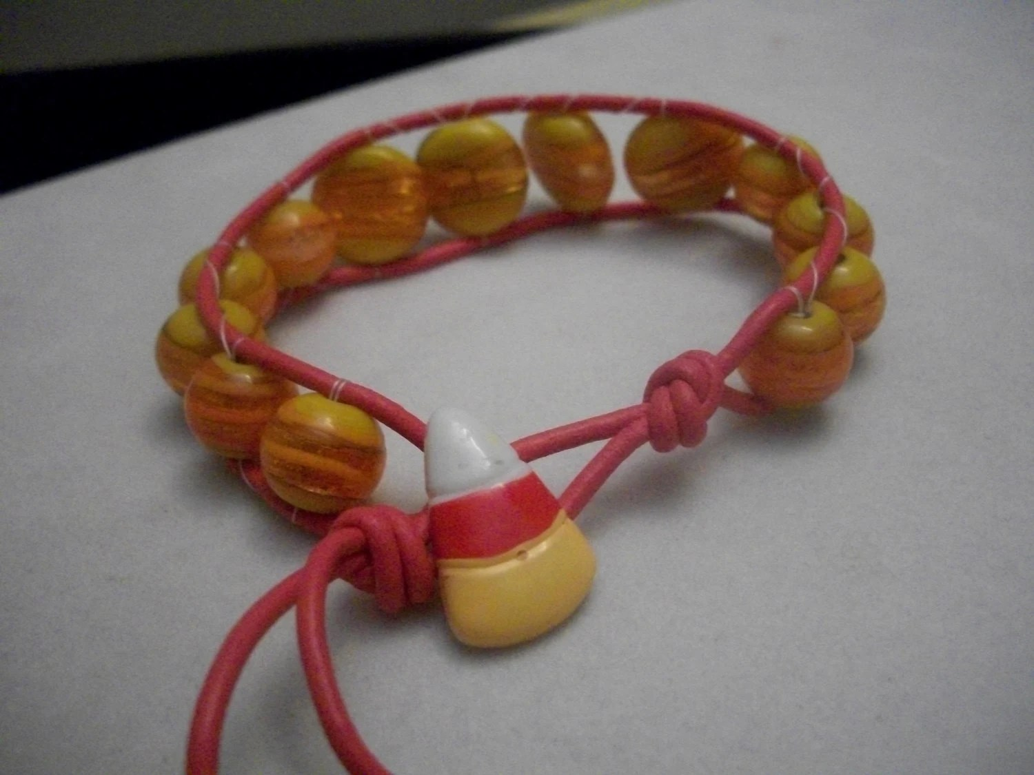Candy Corn Unisex Halloween Bracelet Jewelry, Mens Girls ...