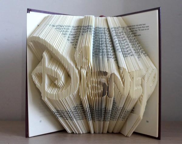 Folded Book Art Disney