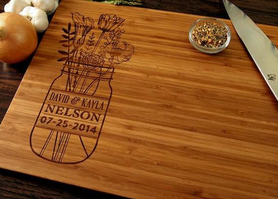 Personalized Wedding Gift Custom Cutting Board Anniversary