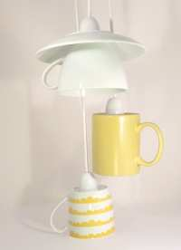 Tea and Coffee Cup Ceiling Light by CubedSphere on Etsy
