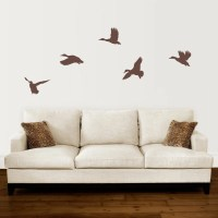 Duck Wall Decal Set Mallard Ducks Flying Decal Set of 5