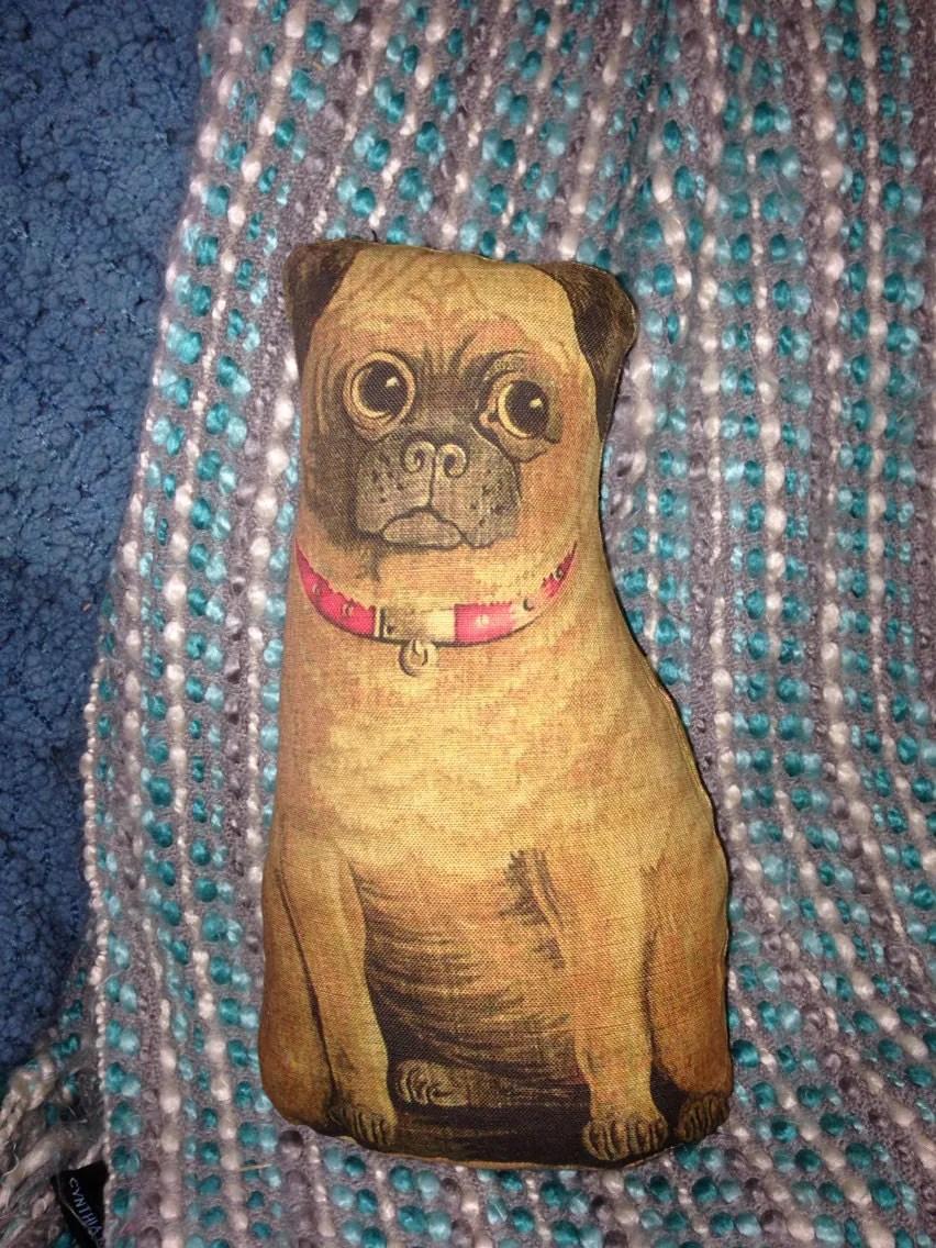 Primitive Vintage PUG DOG cloth Animal DOLL 1892 reproduction