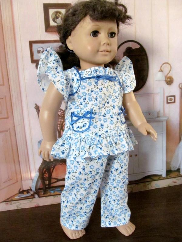 Ruffled Baby Doll Pajamas