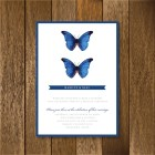 Pretty Blue Butterfly Spring Wedding Invitation