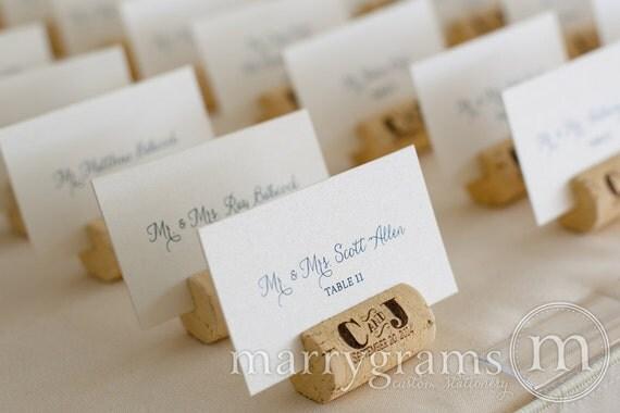 Flache ausgefallene Hochzeit Tischkarten