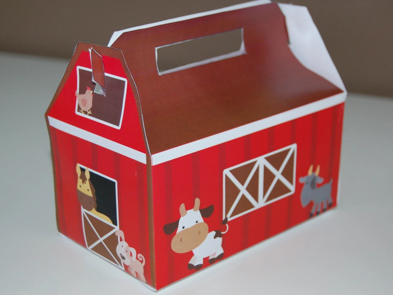 Barn Themed Favor Box Farm Animal Treat By