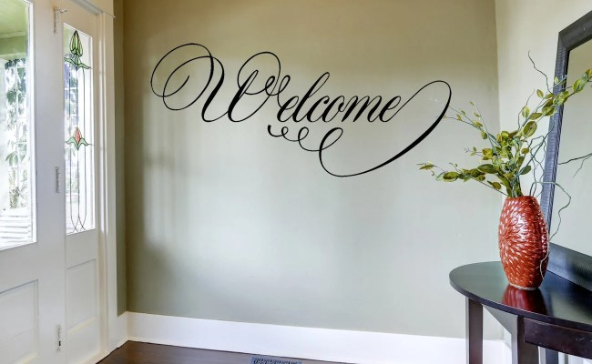 Welcome Wall Decal Home Decor Home And Living Vinyl Wall