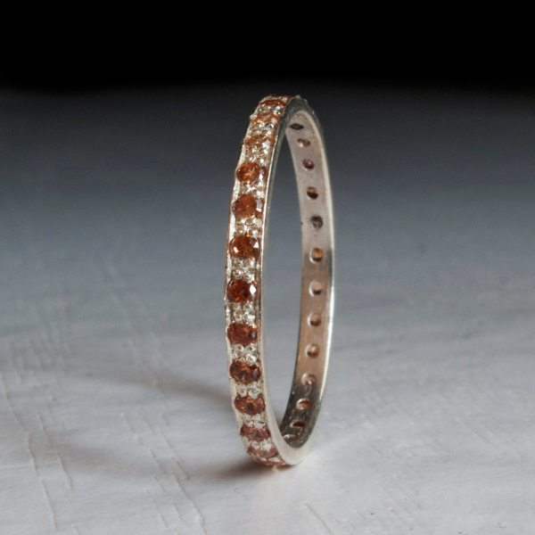 Citrine Eternity Ring Champagne