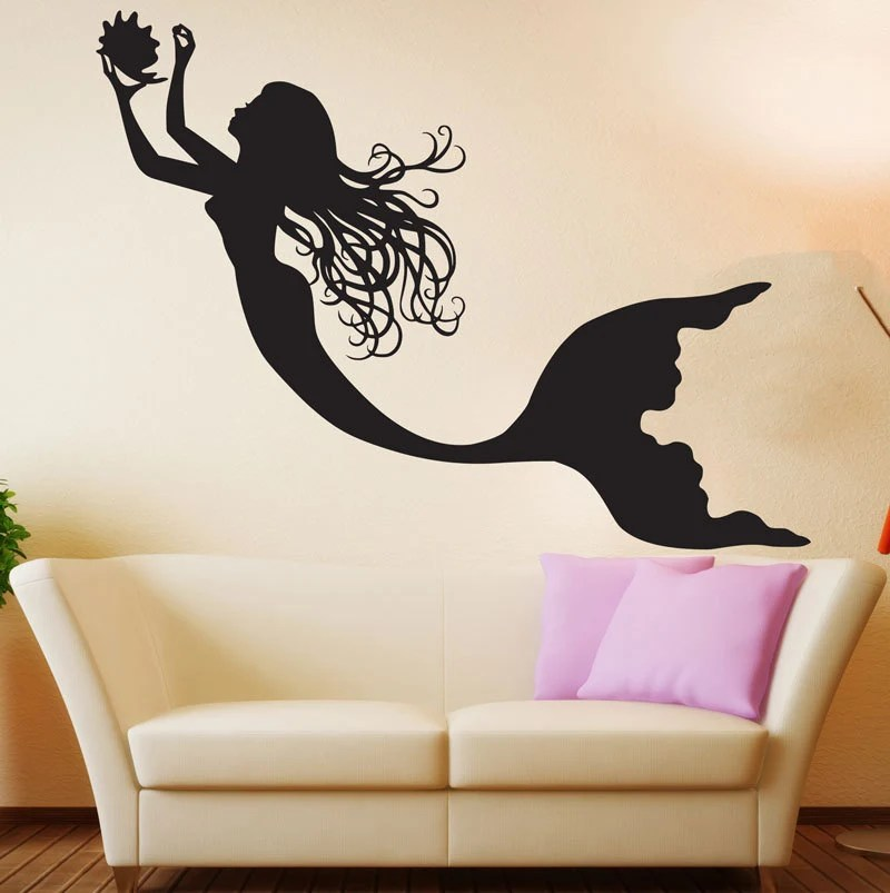 Mermaid Wall Decal Art Decor Nursery Sticker mermaid wall art