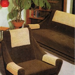 Crochet Sofa Arm Covers Beds Dallas Texas Chair | Etsy
