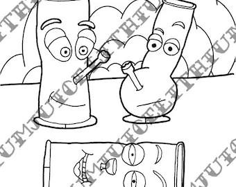 Ranma ½ Akane Tendo Line Art Sketch, PNG, 1280x768px, Watercolor ... | 270x340