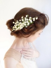 lily of valley hairpiece lilies