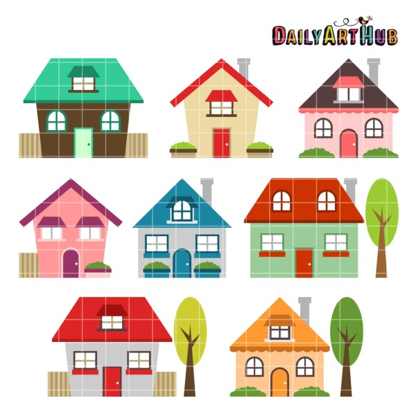 houses clip art home clipart family