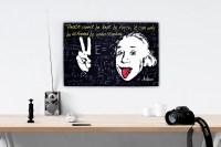 Albert Einstein Canvas Wall Art Physics Quote Canvas Print