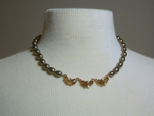 Vintage Monet Pearl Necklace With Tag