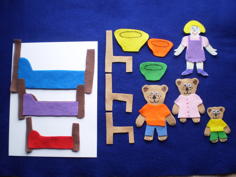 Goldilocks And The 3 Bears Flannel Board Felt Story Set And