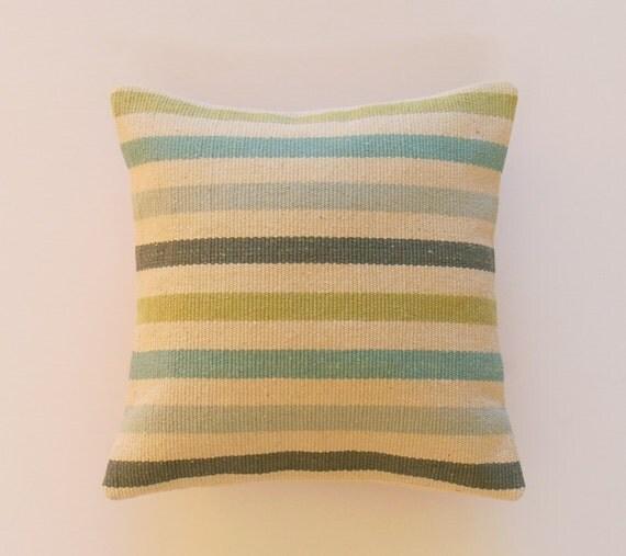 Blu verde Aqua cuscini cuscini decorativi rustico di Texture