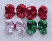 set of 6 mini pinwheel hair bows