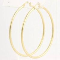 Large Gold Hoop Earrings 14k Yellow Women's Polished