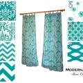 Window curtains pair of drapery panels by modernalityhomedecor