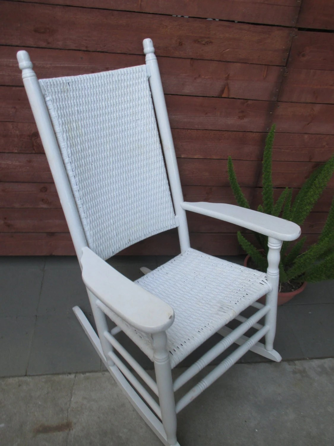 kennedy rocking chair cloth portable high porch rocker vintage wicker and wood haute juice