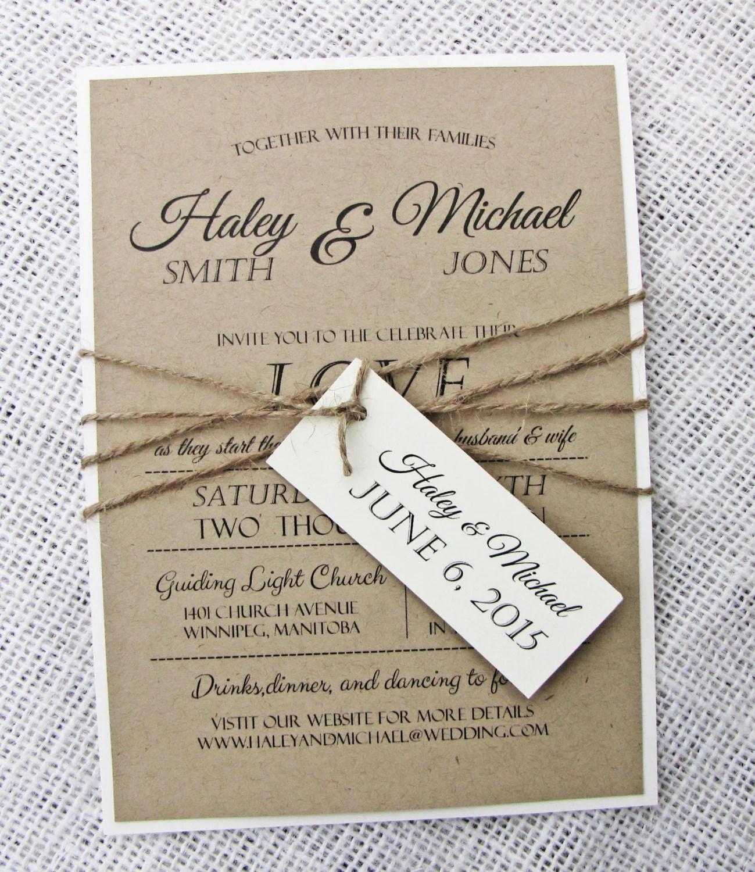 Rustic Wedding Invitation Diy Printable Modern Wedding