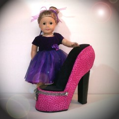 American Doll Chair Cavett Leather Girl Pink Shoe