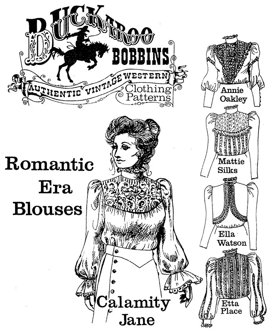 Ladies' Romantic Era Blouses sizes 6-24 Victorian