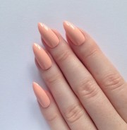 pastel peach stiletto nails nail