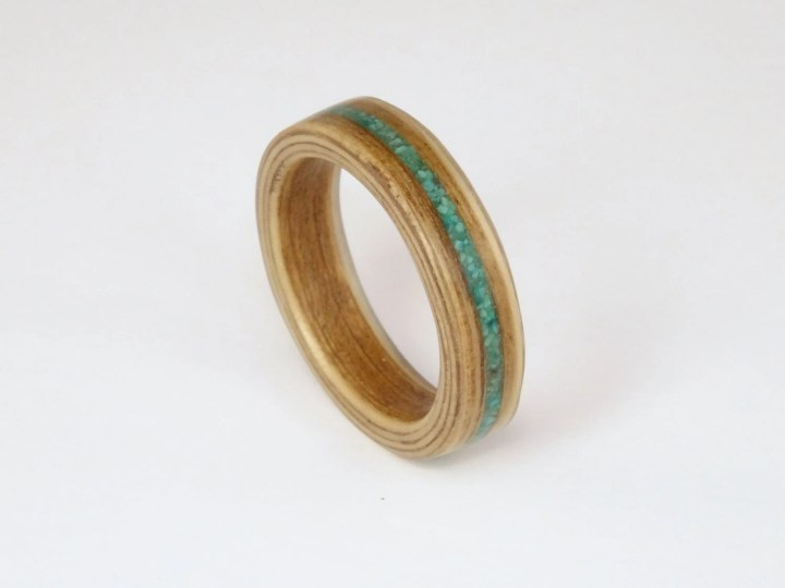 Oak Bent Wood Ring with a...