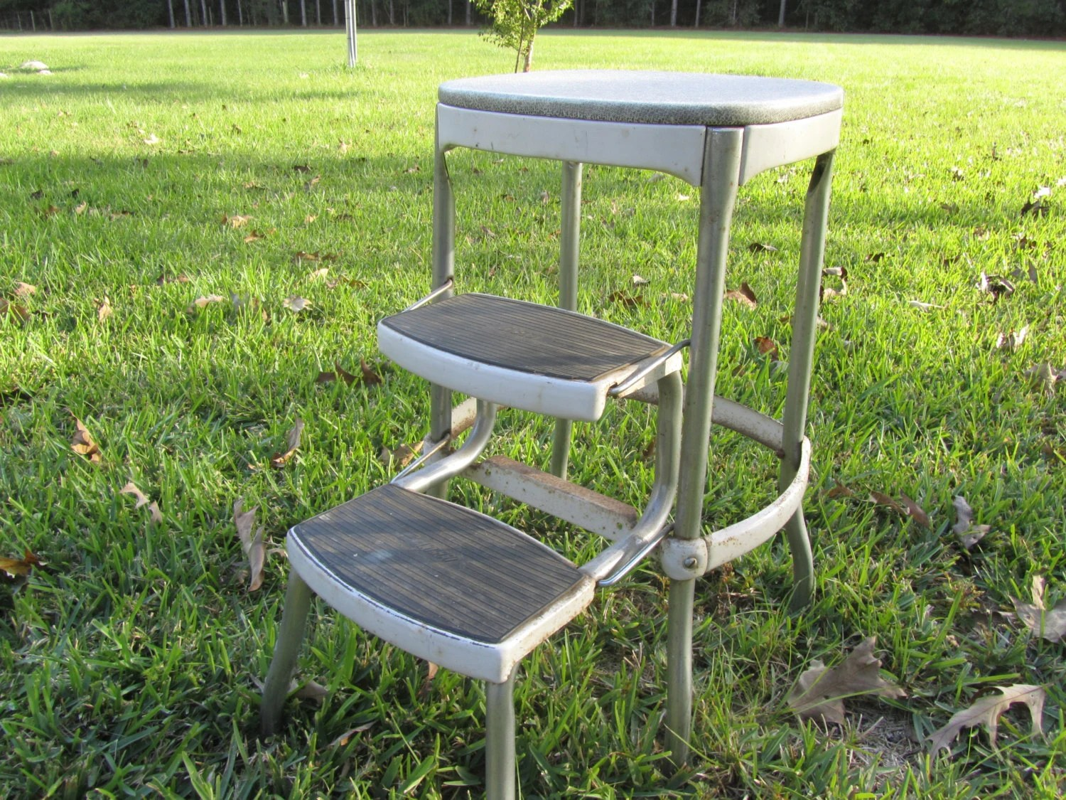 chair step stool jazzy power weight vintage cosco metal ladder