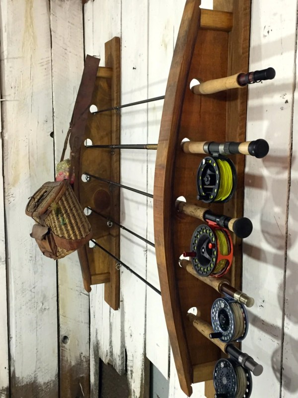 Great Lakes Fly Fishing Rack Napa Valley Wine Barrel Staves