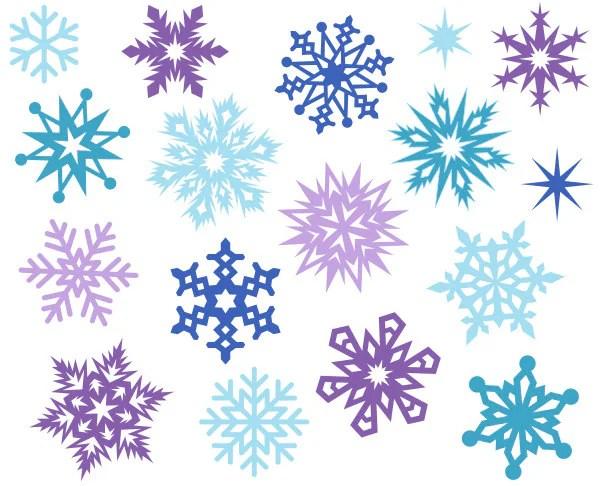 christmas snowflakes cute digital