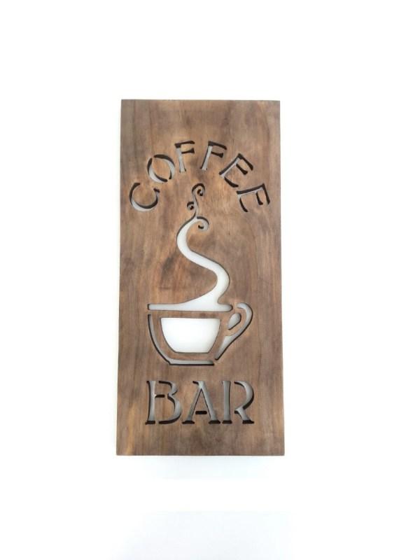 Coffee Bar Sign Modern Kitchen Art Wood Home Timberartsigns