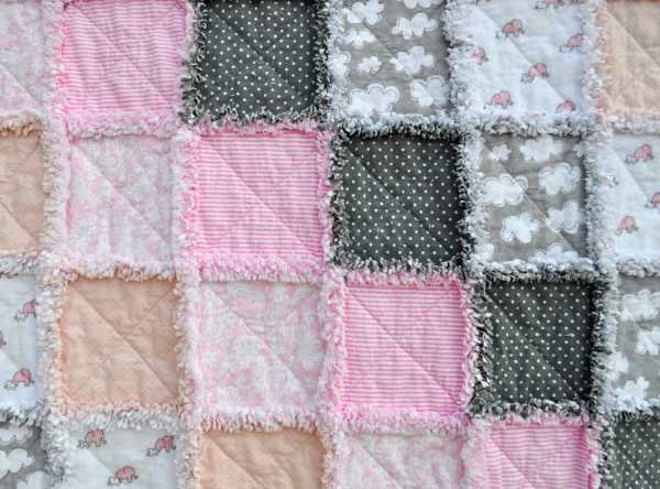 Flannel Baby Rag Quilt - Year of Clean Water