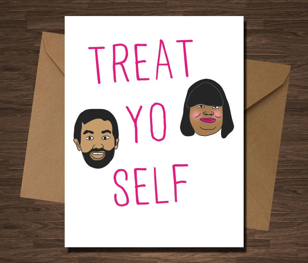 Funny Birthday Card Parks And Recreation Treat By